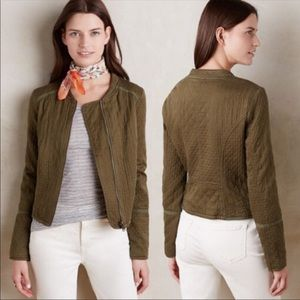 Hei Hei Olive Quilted Jacket